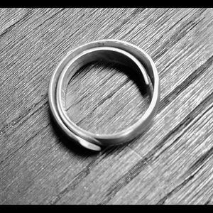 STERLING SILVER ring for HIM or HER - large size